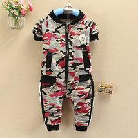 4set/lot wholesale jacket pants boy gril kids 2pcs set casual child clothes ,camo sets