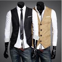 NEW All-match men's casual slim vest men