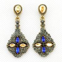 2014 New Korean Fashion Elegant Unique Women Luxury Drop Earrings Crystal Earrings For Women jewelry