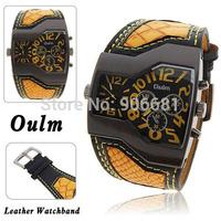 fashion original brand olum men wrist watch outdoor casual sport watch double movement  big dial watch dz quartz clock