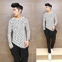 Free shipping! New listing Slim Night hairstylist men's fashion long-sleeved T-shirt