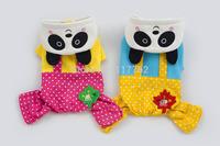 New Coming Panda Bib Style  Hoodied Pet dogs Coat Free Shipping dogs coat pet coat
