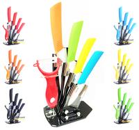 "3"" 4"" 5"" 6"" Ceramic Knives Set kit +Peeler + Holder, fruit carving tools, Kitchen Ceramic knife 6 Colors Can Select"