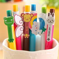 [Uoopai] Special Offer Ballpoint Pen Cartoon Frog Ballpoint Pen Ballpoint Animal Wings Rainbow Korea School Supplies Stationery
