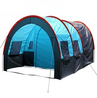 Outdoor camping for 5-8 person family tent camping tent A large family room and two living tents 2014 new outdoor rain barraca