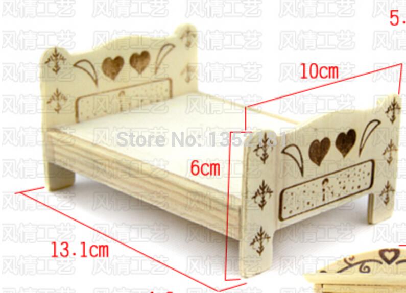 1:12 Cute Dollhouse Miniature furniture child bed(China (Mainland))