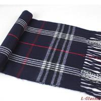 Christmas New Year Gift Fashion Scarf Autumn Winter Warm Cashmere Tassels Plaid Men Scarves
