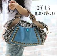 Rivets Handbag Restoring Ancient Ways Women Shoulder Bag Female Crossbody Canvas Big Bags