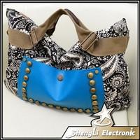 New Fashion Trend National Wind Rivets Handbag Restoring Ancient Ways Women Shoulder Bag Crossbody Canvas Big Bags