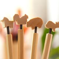[Uoopai] Special Offer Ballpoint Pen Environmental Wood Ballpoint Pen Creative Pen Korea School Supplies Stationery