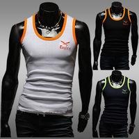 2014 sport tops cotton golds gym vest Gasp muscle shirt sleeveless singlet fitness tank top bodybuilding plus size 3XL men vest