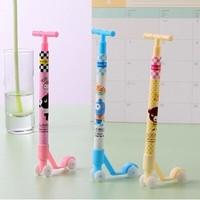 [Uoopai] Special Offer Ballpoint Pen Cute Little Scooter Ballpoint Pen Creative Pen Korea School Supplies Stationery
