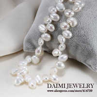 DAIMI Naturl Baroque Pearl Necklace White Color Fashion Style Necklace Free Shipping