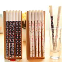 [Uoopai] Special Offer Gel Pen Creative Fresh Garden Floral Gel Ink Pen 0.5 mm Korea School Supplies Stationery Cute Kawaii