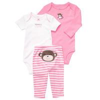 Carters Baby Girl Clothes,Baby Bodysuits,3pcs Set, conjuntos,Newborn, baby clothing,roupas de bebe, Baby Girl Clothing Sets