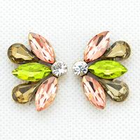 Fashion Luxury Crystal Butterfly bow Earrings Ladies Sexy Earrings for Women Jewelry Statement  Earrings
