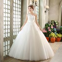 The bride wedding dress 2014 brief one oblique shoulder white wedding dress formal dress