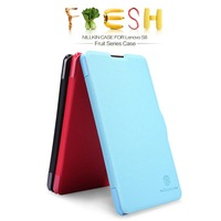 Freeshipping Original Nillkin Fresh Series leather case for Lenovo S8 flip leather case with real package