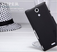 M36h NILLKIN Super Shield Shell Hard Case Cover for Sony Xperia ZR (M36h) with screen protector+retailed package  free shipping