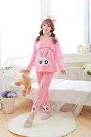 Spring Autumn Cotton Long-sleeved Maternity Clothing Pajamas Set Cute Rabbit Pregnant Women Sleepwear Breast-feeding Tracksuit