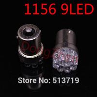 Wholesale 1X  1156 382 BA15S P21W R5W auto Turn Signal Tail Brake 9 LED Light White Car Bulb Lamp