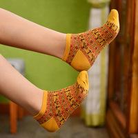 2014 Autumn Paragraph Caramella Women Retro Pattern Jacquard Socks And Comfortable Socks Four Color Wholesale- Free Shipping