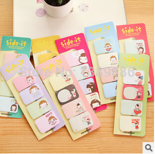 8 sets/lot Cute Mini Memo Pad Sticky Note Kawaii Paper Scrapbooking Sticker Pads Creative Korean Stationery(China (Mainland))