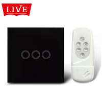 Factory Direct 86 3 -way smart remote touch switch wireless remote control touch switch + free shipping