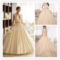 Classic Regal Taffeta Sweetheart Royal Ball Gown Wedding Dress with Elegant Detachable Diamante Beaded Jacket Wedding Gown 2014