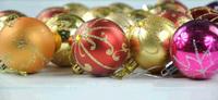 8cm 6pcs/set Mix styles christmas styrofoam balls hanging christmas tree ornaments decor natal merry christmas home decorations