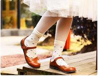 2014 Summer Women Caramella Brand Short Stockings Individually Wrapped Cherry Velvet Jacquard Stockings Wholesale- Free Shipping