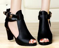 size 34-40 2 colors women's high heels cutout sandals cool sandals shoes sy-78