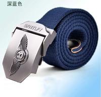 12 Colors Men's Belts Fashion Casual men belt buckle canvas real leather fashion canvas belt for men,drop shipping,R915