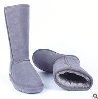 Free Shipping Fashion High Quality Australia Brand 5815 Men/Women Genuine Leather Fur Warm Winter Snow Boots Plus Size+12 Colors