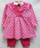 new baby girls longsleeve dress suit 2014 autumn carters cartoon polka dot dress+leggings 2-piece set girl's clothing outfits