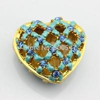 Cheaper Cute Lovely Design Antique heart shaped jewelry box-home decor trinket box