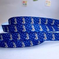 "3/8""9mm Frozen snowman Olaf pattern rib knitting belt gift packaging diy ribbon 20 yards free shipping"