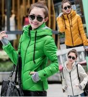 2014 winter jacket women wadded jacket fashion women's coats winter coat women cotton-padded jacket green parkas spring coat