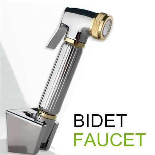 100%Brass Women Hand held Bidet Shower set Toilet Jet Cleaner Portable Bidet Faucet High Pressure Shower Head with 1.5m hose(China (Mainland))