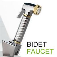 100%Brass Women Hand held Bidet Shower set Toilet Jet Cleaner Portable Bidet Faucet High Pressure Shower Head with 1.5m hose