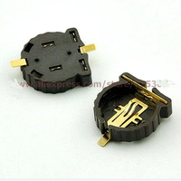 500pcs/lot, 2 pin holders coin cell battery holder  SMD CR1220  , HK free shipping with tracking no