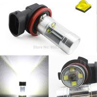 NEW 40W CREE LED + REFLECTOR DESIGN!  2pcs H11 High Power Car Fog Lights DRL Bulb 12V 6000k