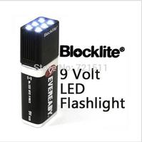 Brand new Blocklite EVEREADY 9 Volt LED Torch Flashlight 6 White Light Bulbs emergency Battery Camping 9V