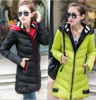 2014 wadded jacket women's clothing winter jacket women long fashion ladies jackets thickening casual spring coats