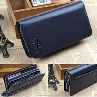 611  High-end men's wallet double pull double clutch brand multi-card bit large capacity men wallet