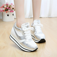 The fall of the east new platform shoes Gao Bang canvas shoes female Korean tide leisure color lady shoes shoes