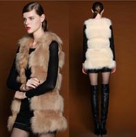 WPY07 2014 New Winter Coat Plush Fur Vest Fur Vest And Long Sections Of High-Quality Fur Coat