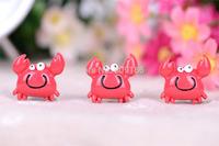 Free Shipping 20PCS/Lots Very Hot and Kawaii Resin crab cabochons FOY DIY 25*25mm