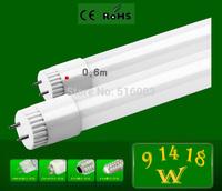 2pcs CREE High Power LED tube light SMD 2835 600mm fluorescent tube light lamp bulb T8 G13 85-265V 1000lm 10W 2 feet ft tubes