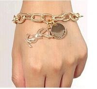 2014 new style top quality fashion brand gold bracelet 350